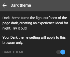 Enable youtube dark theme