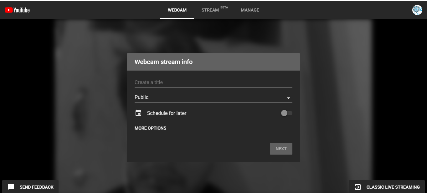 youtube live stream easily