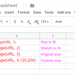 How to add an image in Your Google spreadsheet Using Function.